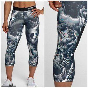 Nike Pro Womens Print Leggings Size M Dri Fit